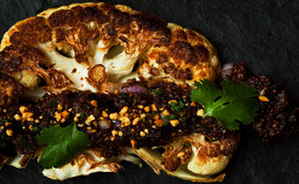cauliflower-with-quinoa-prunes-and-peanuts