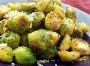 Brussel Sprouts in Garlic Butter