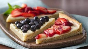 Berries and Cream Dessert Triangles