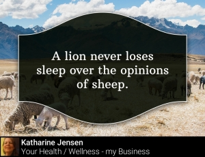 A lion never loses sleep