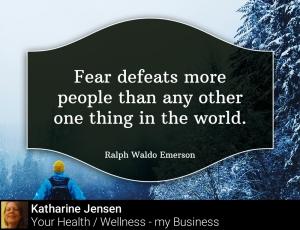 Fear Defeats people