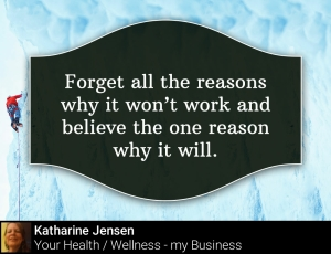 Forget all the reasons why