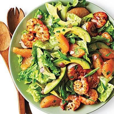 Shrimp-Avocado-Grapefruit Salad