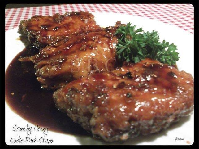 Crunchy Honey Garlic Pork Chops
