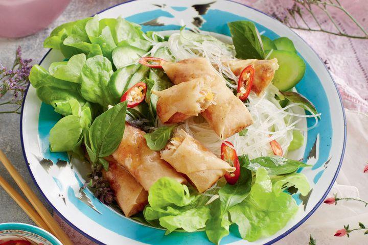Vietnamese Springroll and Vermicelli Salad